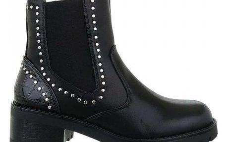 Dámské černé kotníkové boty Aragorn 12618