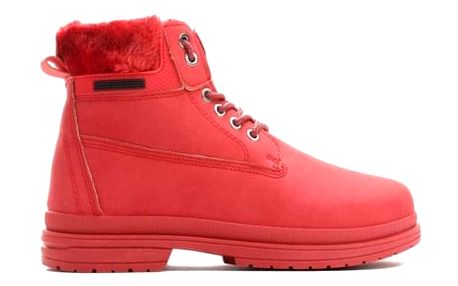 Dámské červené kotníkové boty Vinnie 009