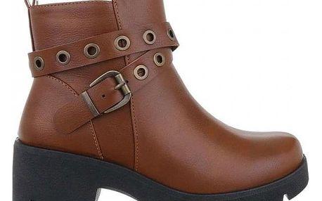 Dámské hnědé kotníkové boty Kaika 9996