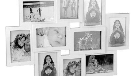 Bílý rámeček - 10 fotografií, 59x50 cm, Emako