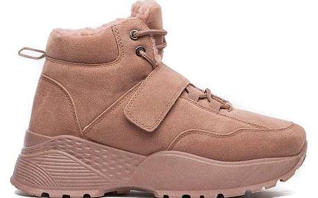 Dámské tmavě růžové kotníkové boty Ladonna 034