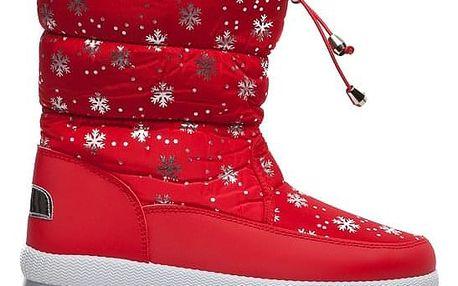 Dámské červené sněhule Fairy 012