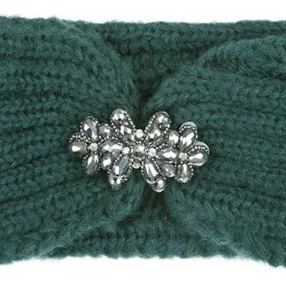 Zelená pletená čelenka Luca 603390
