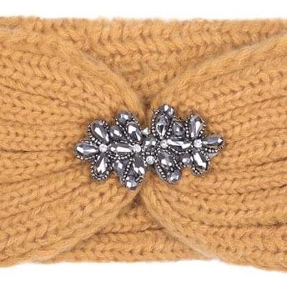 Žlutá pletená čelenka Luca 603390