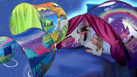 Pohádkový stan nad postel: 4 různé motivy