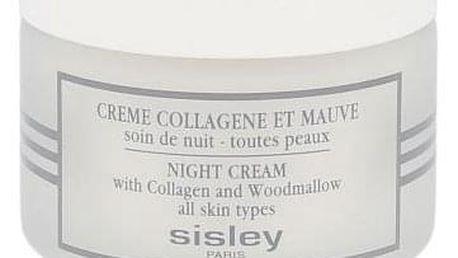 Sisley Night Cream With Collagen And Woodmallow 50 ml noční krém pro všechny typy pleti pro ženy