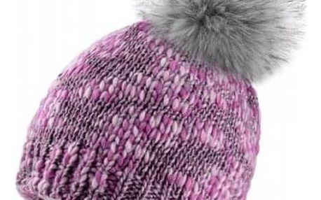Fialová čepice Woolk s třpytivými nitkami