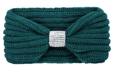 Zelená pletená čelenka Jorah 603392
