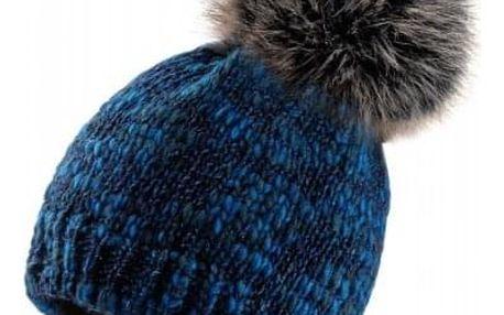 Tmavě modrá čepice Woolk s třpytivými nitkami
