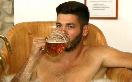 Pivní koupel s neomezenou konzumací piva Bernard