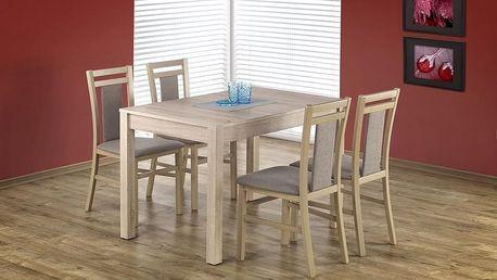 Dřevěný jídelní stůl Maurycy dub sonoma - bílá