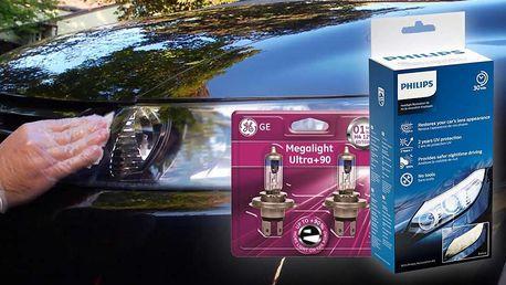 Renovace světlometů Philips a žárovky GE H1 až H7