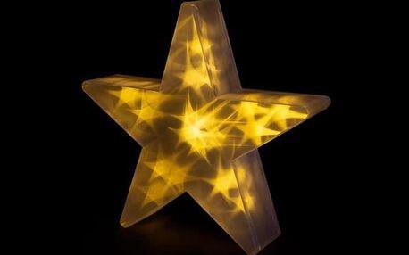 Nexos 33205 Vánoční hvězda s 3D efektem - 35 cm, 20 LED, teplá bílá
