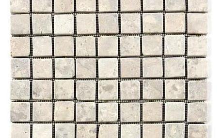 Divero Garth 27454 Mramorová mozaika - krémová - 1x síťka 30x30x0,8 cm
