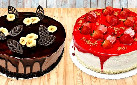 Čokoládové i ovocné dorty pro 5–16 osob