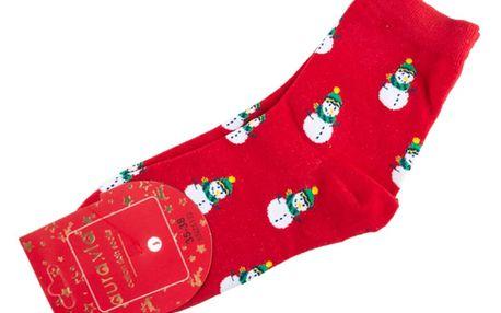 Aura.Via Veselé dámské ponožky Veselé Vánoce