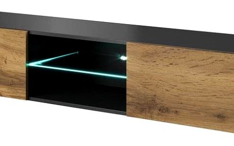 Televizní stolek Livo RTV-180W, antracit matná/dub wotan