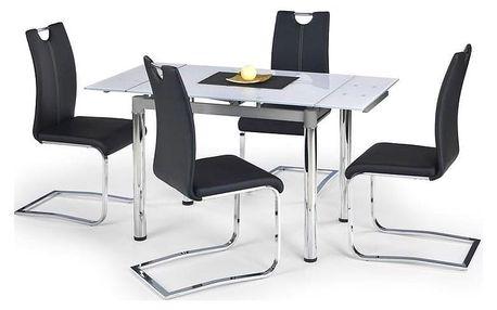 Skleněný jídelní rozkládací stůl Logan 2 bílá