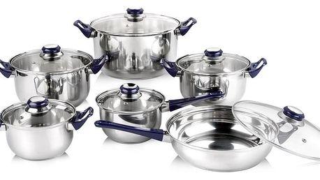 Sada nerezového nádobí CELESTE, 12 ks, barva čirá, 48726512