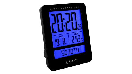 LAR0021 Digitální budík LAVVU Duo Black