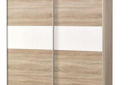 Šatní skříň Lima S1 dub sonoma/bílá
