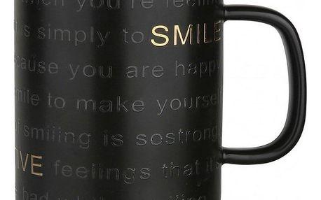 Altom Porcelánový hrnek Smile 360 ml, černá