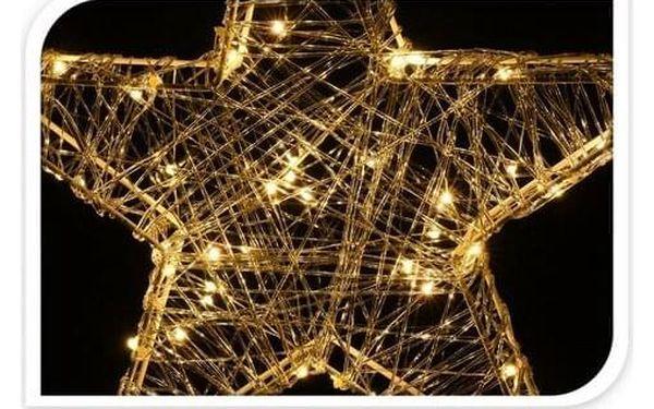 Vánoční hvězda Savona stříbrná, 30 LED2