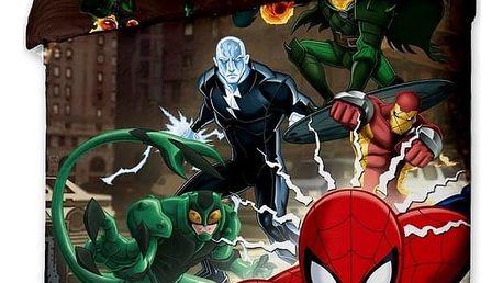 Jerry Fabrics Dětské povlečení Spiderman brown 2015, 140 x 200 cm, 70 x 90 cm
