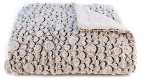 BO-MA Trading Beránková deka Petra hnědá, 150 x 200 cm