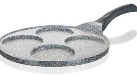 Banquet Pánev na 4 lívance s nepřilnavým povrchem Granite Grey 26 cm