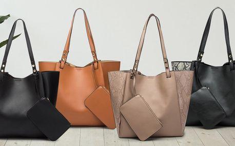 Elegantní dámská shopper kabelka ve 4 barvách