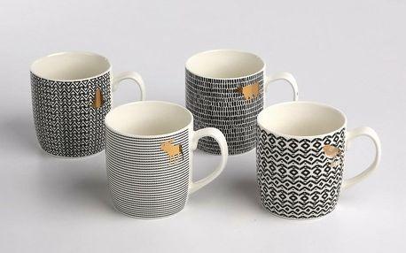 Altom Sada porcelánových hrnků Nordic Winter 360 ml, 4 ks