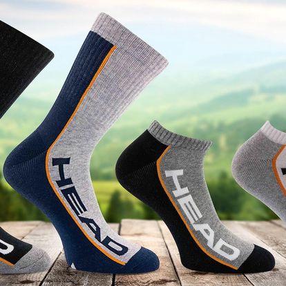 Unisexové ponožky Head, nízké i klasické