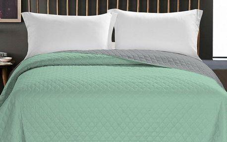 DecoKing Přehoz na postel Axel zelená, 220 x 240 cm