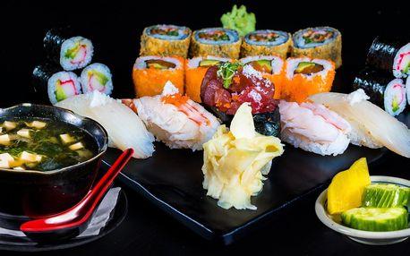 Japonský oběd s polévkou a sushi setem