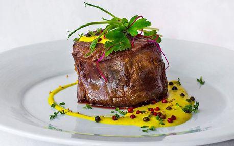 5chodové menu s roastbeefem i steaky pro dva