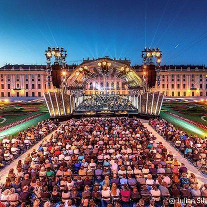 Vídeň s letním koncertem filharmoniků v Schönbrunnu - odjezd Brno, Vídeň