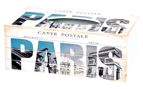 Box na kapesníky Carte postale, 24,5 cm