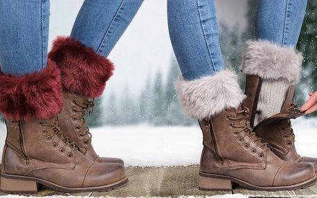 Kožešinkové návleky do bot v 6 barvách