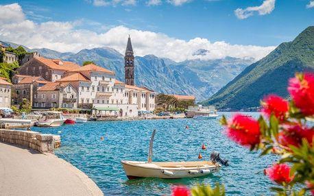 Přímořský ráj Černá Hora s koupáním v Jaderském moři