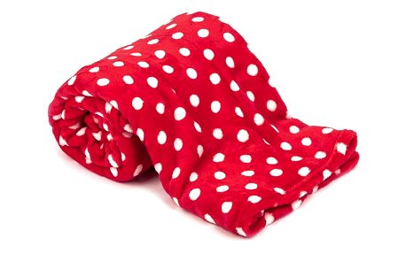 4Home Deka Soft Dreams Puntík červená, 150 x 200 cm