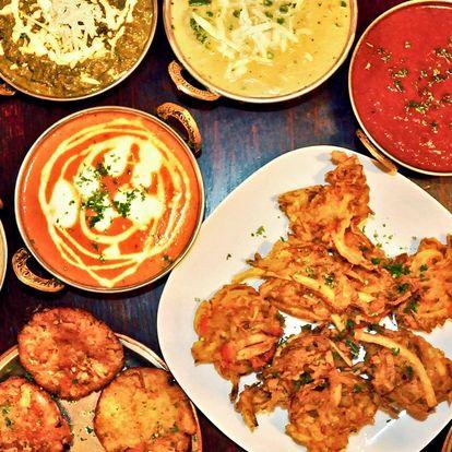 Autentické indické menu pro 2 nebo 4 osoby