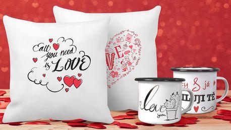 Zamilovaný polštář nebo plecháček pro vaši lásku