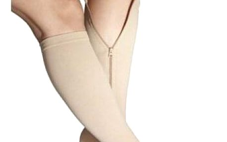 Modom Kompresivní lýtkové punčochy se zipem, L/XL