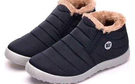 Unisex zimní kotníkové boty - Černá-velikost 40 - dodání do 2 dnů