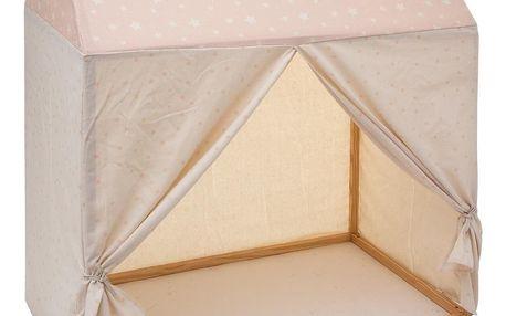Atmosphera for kids Dřevěná chalupa potah pro děti růžová, 116x126 cm, Atmosphera