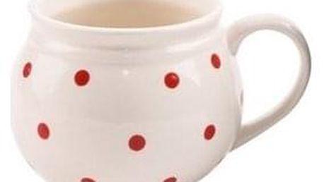 Orion Keramický hrnek Krajáč 450 ml, bílá/malý puntík