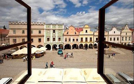 Pobyt pro dva v Telči v hotelu U Černého orla přímo na historickém náměstí