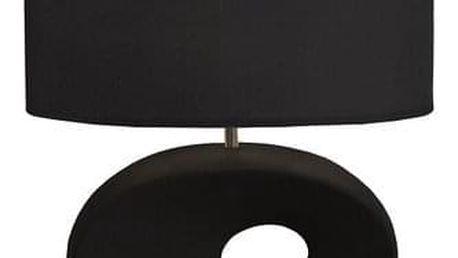 Tempo Kondela Keramická stolní lampa Qenny 10, černá