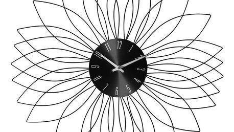 Emako Nástěnné hodiny ve tvaru květiny, moderní kovová ozdoba